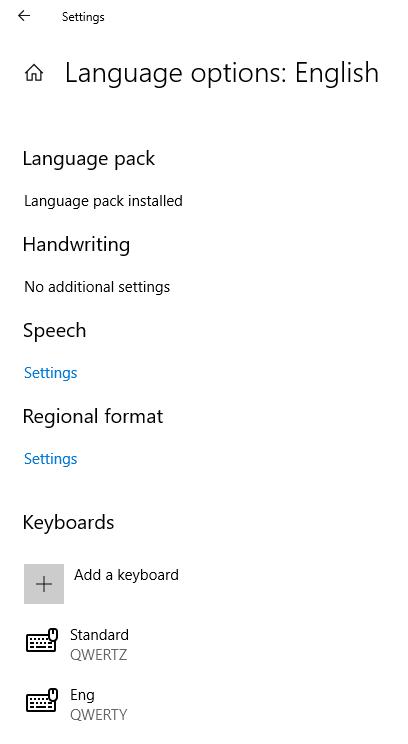 add keyboard layout settings change qwertz to qwerty windows 10