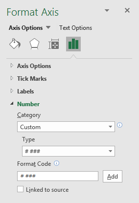 excel chart format axis number type