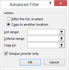 excel get unique values remove duplicates