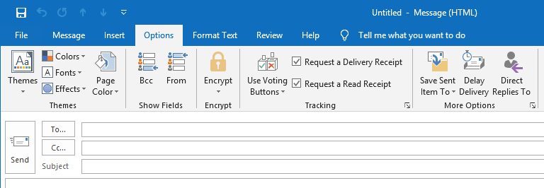 outlook get notification when recipient open read email delivery receipt