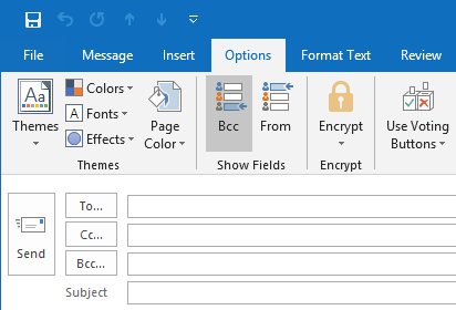 outlook send email to hidden recipients in blind carbon copy bcc