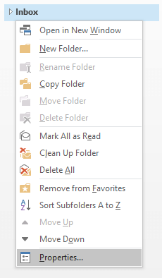 outlook settings move old emails from inbox to archive folder
