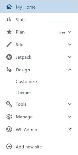 wordpress menu free plan appearance editor missing